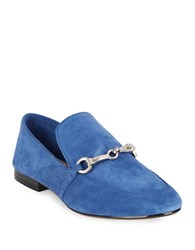 424 Fifth Gabby1 Suede Loafers Blue
