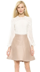 Zac Posen Long Sleeve Blouse Magnolia