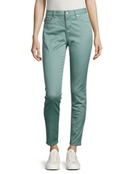 Design Lab Lord And Taylor Mid Rise Cropped Skinny Jeans Mint