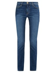 Current Elliott The Slim Straight Mid Rise Jeans Indigo