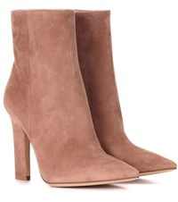 Gianvito Rossi Daryl Suede Ankle Boots Pink