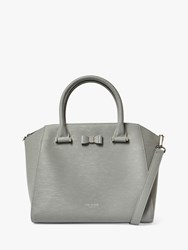 Ted Baker Daryyl Bow Leather Tote Bag Grey