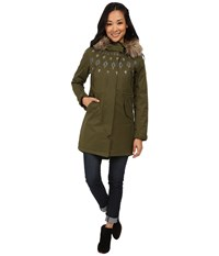 Burton Barge Jacket Olive Night Women's Coat Green