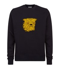 Sandro Bulldog Patch Sweater Blue