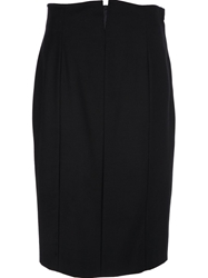 Gianfranco Ferre Vintage Notch Detail Skirt Black