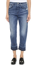 7 For All Mankind The 1984 Rigid Boyfriend Jeans Rigid Lake Blue