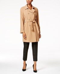 Charter Club Double Breasted Trench Coat Created For Macy's Salty Nut