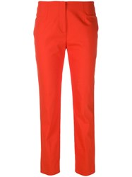Les Copains Skinny Trousers Yellow And Orange