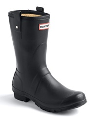 Hunter Original Rubber Short Rain Boots Black