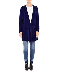 Sandro Edith Tie Sleeve Cardigan Night Blue