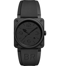 Bell And Ross Br0392 Phantom Ceramic Rubber Watch Black