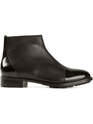 Pollini Round Toe Ankle Boots Black