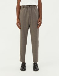 A Kind Of Guise Elasticated Wide Trouser In Warm Grey