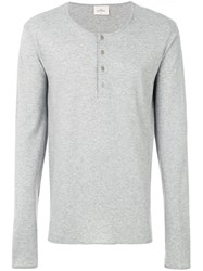 The White Briefs Long Sleeved T Shirt Organic Cotton Grey