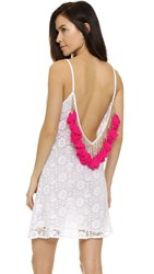 Sundress Lana Short Beach Dress White Pink