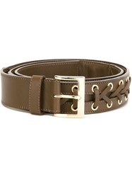 Balmain Braided Belt Brown
