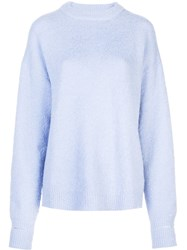 Tibi Crew Neck Jumpeer Blue