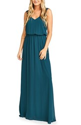 Show Me Your Mumu Women's 'Kendall' Soft V Back A Line Gown