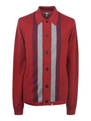 Pretty Green Men's Parlington Knitted Shirt Red