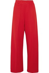 Golden Goose Deluxe Brand Sophie Satin Trimmed Cotton Blend Jersey Track Pants Red