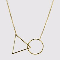 Triangle Long Gold Necklace