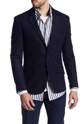 Antony Morato Texture Two Button Notch Collar Sportcoat Blue