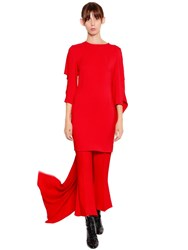 Antonio Berardi Cady Dress With Cape Red