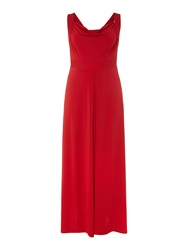 Anna Scholz Plus Size Sleeveless Maxi Dress Red