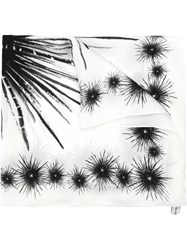 Olympiah Urchin Print Scarf Polyester White