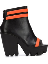 Vic Matie Striped Boots Black