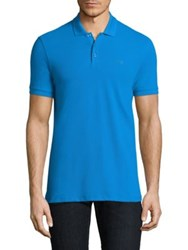 Armani Jeans Pique Polo Teal Blue