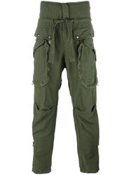 Faith Connexion Patch Pocket Trousers Green