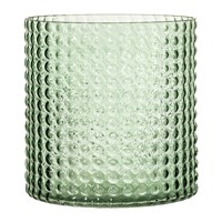 Bloomingville Dotted Cylindrical Glass Vase Green 16.5Cm
