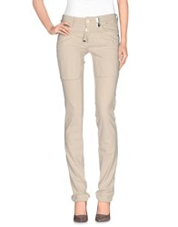High Trousers Casual Trousers Women Beige