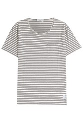 Closed Striped Cotton T Shirt Blue