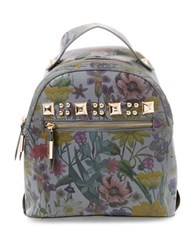Steve Madden Floral Backpack Blue Flower