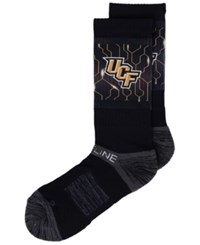 Strideline University Of Central Florida Knights Crew Socks Ii Black Heather Charcoal Gold