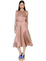 Rochas Silk Satin Dress With Drawstring