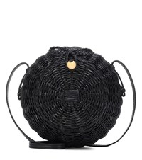 Ulla Johnson Pomme Wicker Shoulder Bag Black
