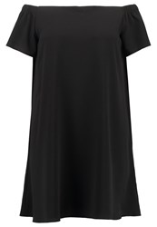 New Look Curves Go Bubble Summer Dress Black