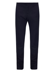 Burberry Slim Leg Cashmere And Wool Blend Trousers