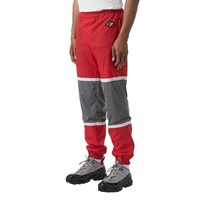 Burberry Logo Patch Cotton Blend Track Pants Red