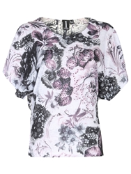Izabel London Diamante Floral Print Top Pink