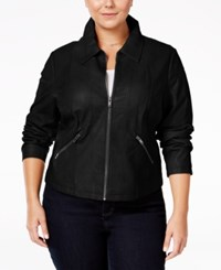 American Rag Trendy Plus Size Faux Leather Jacket Only At Macy's Classic Black
