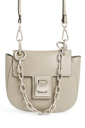 Steve Madden Draped Chain Faux Leather Crossbody Bag Grey