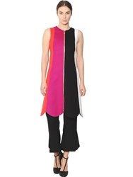 Salvatore Ferragamo Patchwork Double Wool And Cashmere Dress