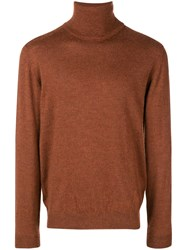 Nuur Turtle Neck Sweater Brown