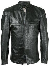 Fake Alpha Vintage 1970S Beck Motorcycle Jacket Black