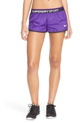 Women's Superdry Gym Shorts Purple