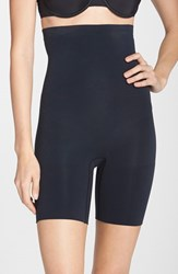 Plus Size Women's Spanx 'Higher Power Short' Mid Thigh Shaper Very Black
